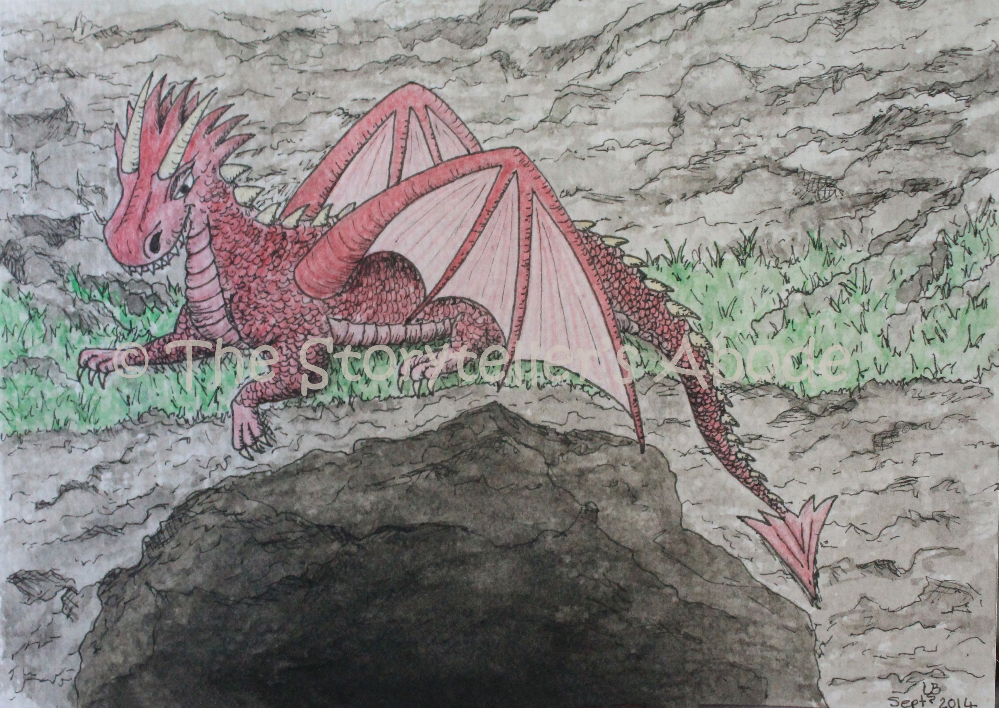 Scenes From The Enchanted Forest Dragon Watermarked