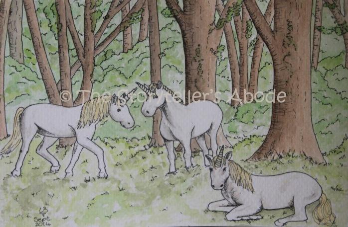 "The Unicorn Glade (7"" x 5"")"