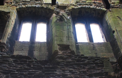 Windows inside gatehouse