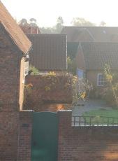 light on brick work
