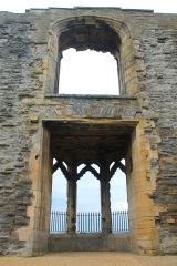 The oriel window from inside