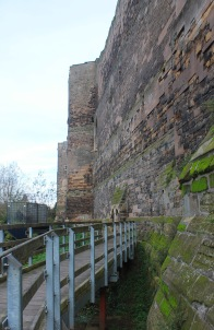 Path along outer wall