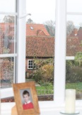 view through window portrait