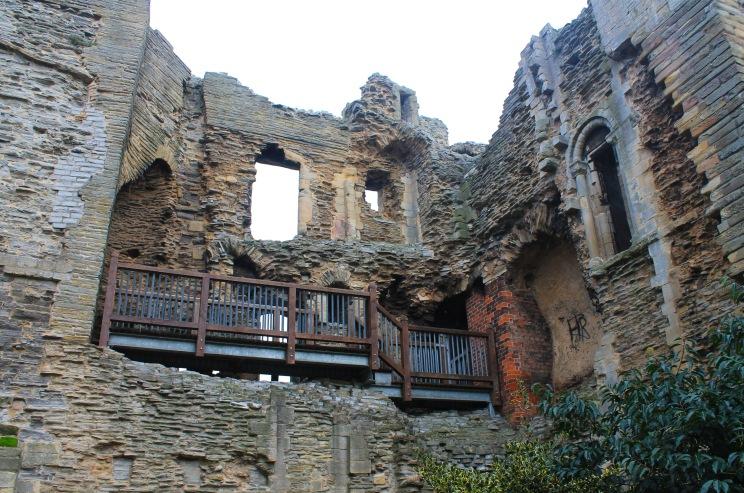 Modern work on castle interior