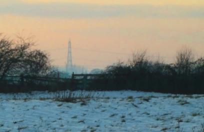 snowy pylon