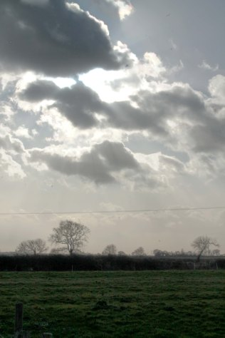 Clouds over field