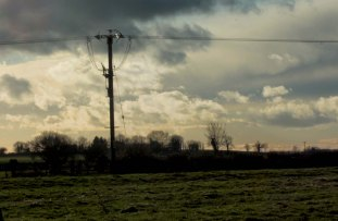 view with telegraph pole