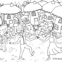 Pixie Party Colouring Picture