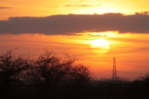 sunset with pylon