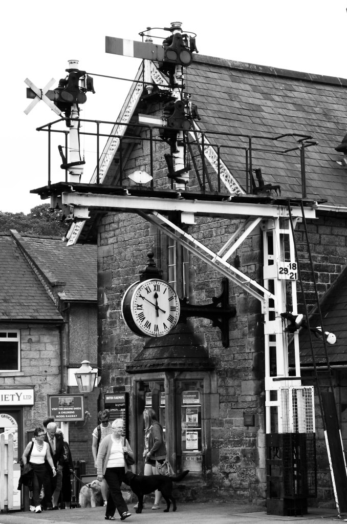 Grosmont Level Crossing, North Yorkshire Moors Railway, UK