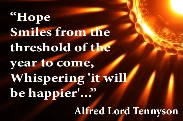 Rays with Tennyson hope quote