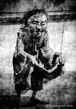 freaky puppet vintage black and white