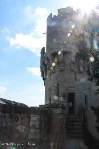 sunburst over tower