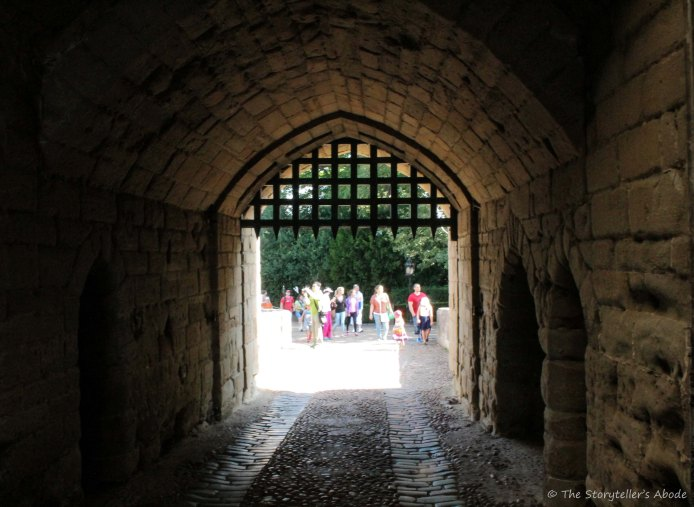 view through gatehouse