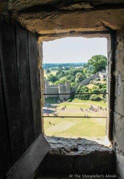 view through tower window