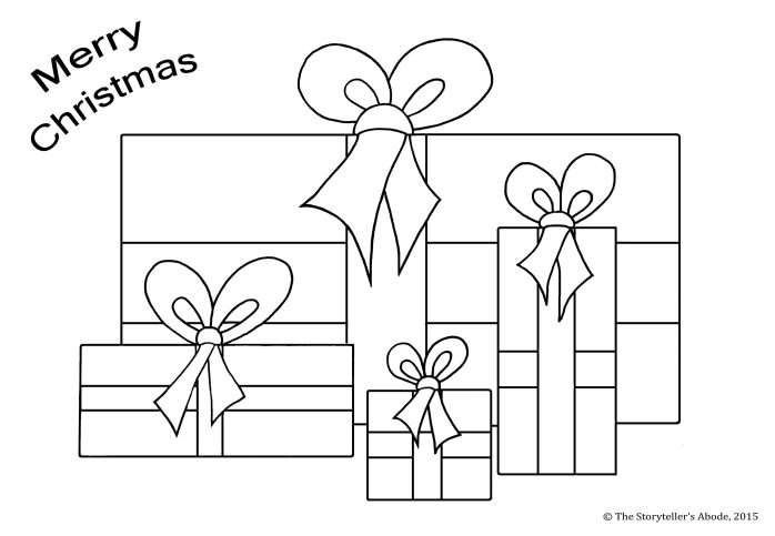 presents colouring picture