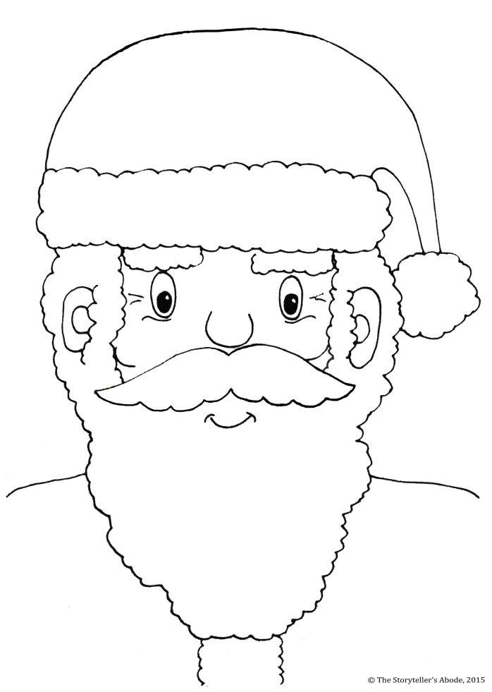 Santa Colouring picture