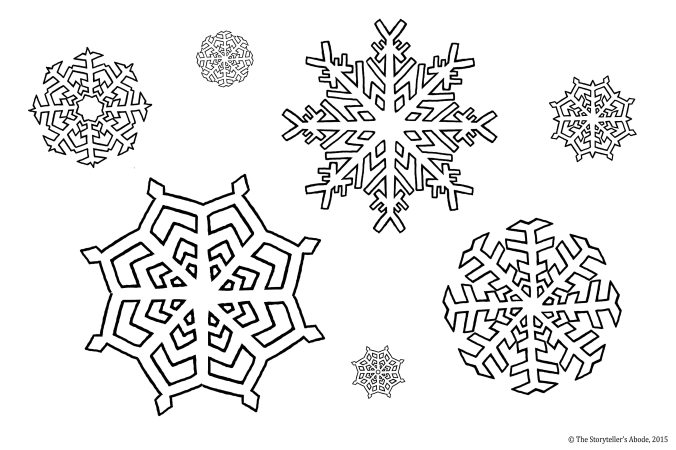 snowflake colouring picture
