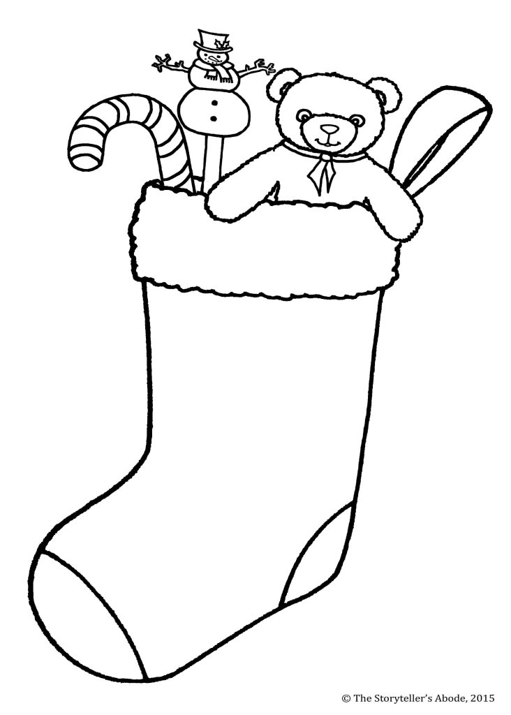 stocking colouring picture