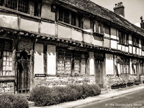 Cerne Abbas medieval cottages, Dorset, UK