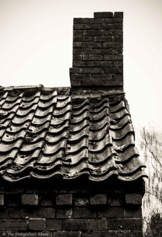 Tiled roof, Nottinghamshire, UK