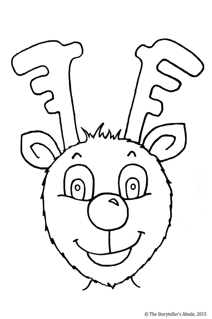 Rudolph Colouring Picture