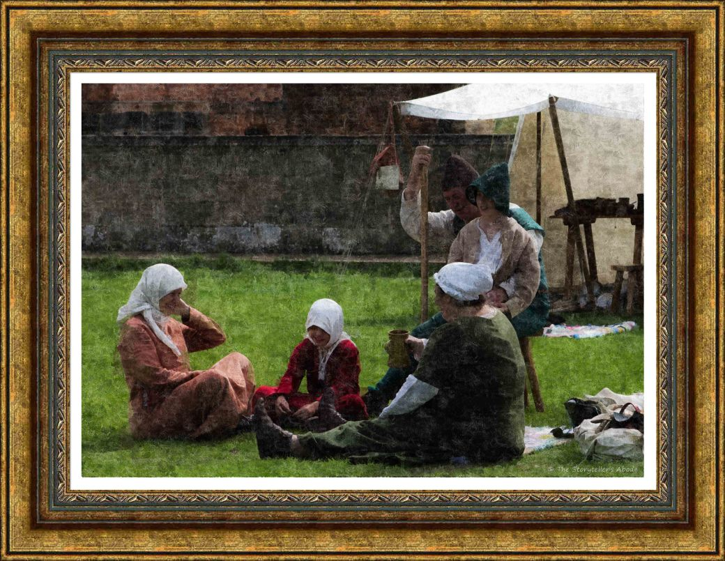 Family Group Painting Framed