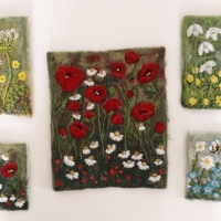 Felt and Embroidery Art