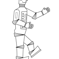 Robot Colouring Picture