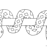 Snake Colouring Picture